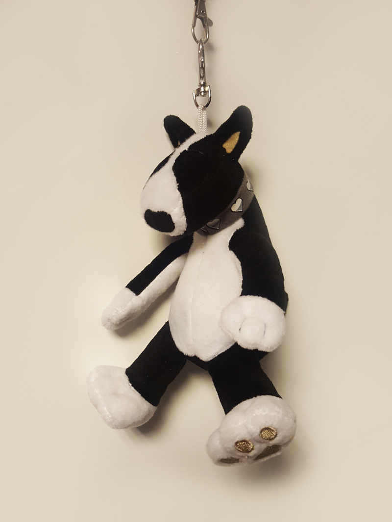Never lose your keys again with this fun and cuddly Bull Terrier keychain !HUGGABULLZ 8e15d2d7bb8d